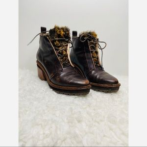Anthropologie Kelsi Dagger Brooklyn Faux Fur Boots